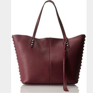 Rebecca Minkoff Pebbled Leather Tote Bag, Port NWT